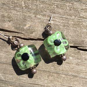 Glass Flower Earrings 5/$25